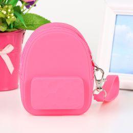 Детские наушники онлайн-lovely Silicone Mini Coin Purse Children Wallet Candy Color Headphones Key Bag