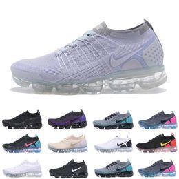 Nike Vapormax Flyknit Air max 2019 Knit 2.0 Fly 3.0 Zapatos para correr air Hombre VAPOR Mujer BHM MAX Orbit Metallic Gold Triple Black Diseñador Zapatos Zapatillas de deporte desde fabricantes