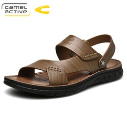 2019 мужская обувь Camel Active 2019 New  Fashion Men Beach Sandals, High Quality Summer Genuine Leather Men Shoes Casual Flat Shoes 19357 дешево мужская обувь