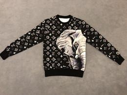 19ss diseñador para hombre Sudaderas con capucha jumper Sudaderas High Elephant monogram imprimir nueva etiqueta Crew Neck ropa desde fabricantes