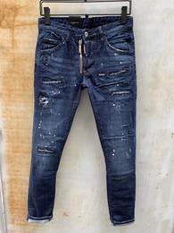 point de mode hommes jeans Promotion 2019 Mode Casual Hommes Denim Coolguy Jean Broderie Pantalon Trous Jeans Bouton Pantalon D2 Pantalons Longs 863