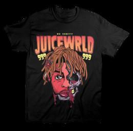 JUICE WRLD NO VANITY ABSTRACT TEE - BLACK T-SHIRT Tejido cómodo de punto, camiseta de estilo street para hombre Top de algodón de calidad desde fabricantes