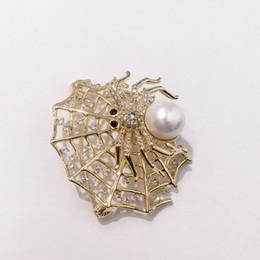 spoglie i ragni Sconti Spider di lusso Spider Designer Spider Web Spilla Moda Donna Spille Lady Accessori Hip-Hop Fine Jewelry Lover Gift