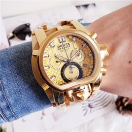 578c8d0c15bd Marca de lujo para hombres Watch25209 Invicta Reserve Bolt Zeus Magnum Reloj  de cuarzo plateado plateado con doble hora en color azul suizo - Oro rosa  arco ...