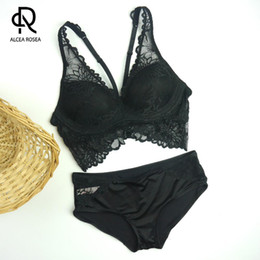 7934d71194 romantic sexy underwear 2019 - Alcea Rosea Romantic Temptation Bra Set Women  Fashion Solid Underwear Set
