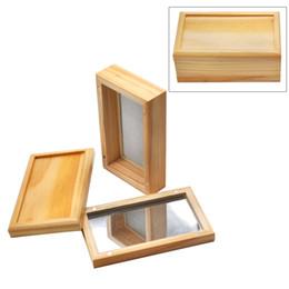 2019 vape quadrato 2019 Newest Square Wood Stash Filter Box Vape Contenitori di olio Set di stoccaggio di cera di bambù Lattine di tabacco vasetti di cera per erba secca smerigliatrice vape quadrato economici