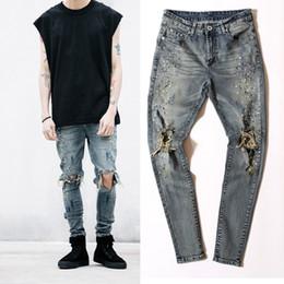 Корейская дизайнерская одежда онлайн-29-36 men designer clothes denim jumpsuit jean pants korean rock splash-ink stretch moto distressed ripped skinny men hole jeans