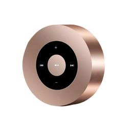 включить музыку Скидка Творческий Портативный Беспроводной Bluetooth Круглый Металл Портативный Динамик Поддержка Портативный Музыкальный Звуковой Ящик Играя Регулятор Громкости Динамик 50 шт.