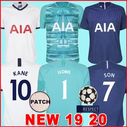 Argentina Top tailandia KANE 19 20 TOTTENHAM SPURS Jersey de fútbol 2019 2020 Camisetas de NDOMBELE SON 19 20 Camiseta de fútbol Kit hombres y niños KIT SET uniforme cheap goalkeeper set football Suministro