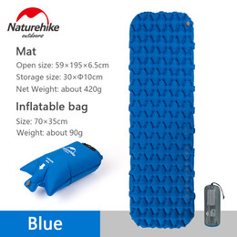 inflatable mattress camping Promo Codes - Naturehike Outdoor Inflatable Mattress Camping Tent Sleeping Pad Hiking Single Thick Moisture-proof Cushion with Air Bag