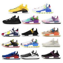 2fa0bb5273e70 NMD Human Race Running Shoes for mans Pharrell Williams Sample Yellow Core  Black Sport Designer Shoes Men Women Sneakers 36-45 With Box