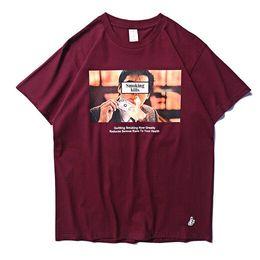 T shirt homme hong kong en Ligne-2019 Le tabagisme tue Hong Kong Film Imprimé Femmes Hommes T-shirts t-shirts
