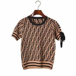 2019 sottile giacca di maglione delle signore La nave libera 2019 di modo della lettera di autunno delle donne di stampa maglioni lavorati a maglia sottile casuale del pullover girocollo Tops