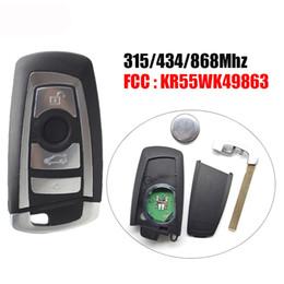 carcasa remota de toyota Rebajas DHL 5pcs / lot llave del coche inteligente 4button 315/433 / remoto inteligente 868Mhz KR55WK49863 CAS4 CAS4 Sistema + F para BMW Serie 3 5 7