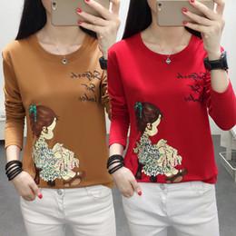 97110077953 Oversized Autumn Women s T-shirt 2019 Korean New Cartoon Girl Print Tops  Plus Size 5XL Casual Female Long sleeve Cotton Shirt