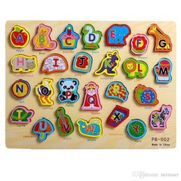 board intelligence Coupons - Letter  number puzzle board baby early intelligence wooden stereoscopic hand grasping board learning toy wholesale