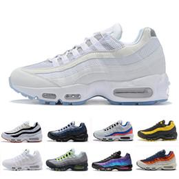 Nike air max 95 shoes Moda Laser Fuchsia chaussures OG hombre mujer zapatillas Clásico Negro Blanco Entrenador deportivo Superficie Deportes al aire libre zapatilla de deporte desde fabricantes