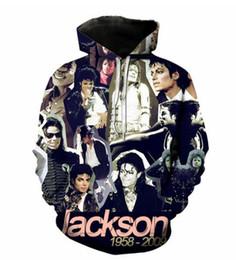Camisolas de michael jackson moletom com capuz on-line-Nova forma das mulheres / homens de Michael Jackson engraçado 3D Imprimir Casual camisola Hoodies