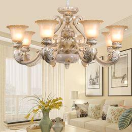 2019 американские лампы Rmamary подвесной светильник Европа люстра гостиная лампа сад смолы свет простой американский ретро спальня столовая лампы настенный светильник