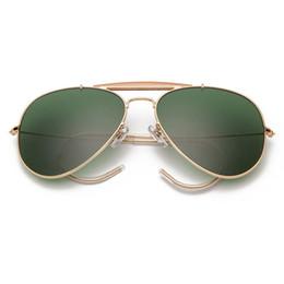3030 Boloban lente de vidro da aviação óculos polarizados marca óculos homens mulheres 58 milímetros piloto clássicos espelhar oculos de sol UV400 de