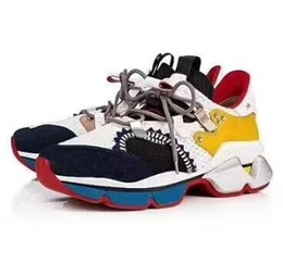 semelles noires Promotion Chaussures de sport de créateur, chaussettes à baskets rouges, chaussures de ville. Chaussures plates à semelle rouge avec pointes de kristal, 30 mm noir et blanc