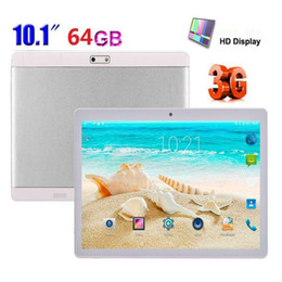Tablet sim online-201910,1 '' Tablet PC Android 6.0 OctaCore 4GB + 64GB Dual SIM / Telefono cellulare Wifi Phablet