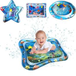 Enfants mat de l'eau en Ligne-Bébé Enfant gonflable eau tapis de jeu gonflable Thicken enfant PVC Temps Playmat enfant en bas âge Fun activité Centre de jeu d'eau Mat pour bébé M555