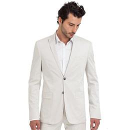 Neue Weiß Männer Anzüge Jacke Hosen Formale Strand Männer Anzug Set Slim Fit Männer Hochzeitsanzug Bräutigam Smoking Mens Blazer Party Prom 2 Stücke 577 von Fabrikanten