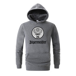 Зимняя женская рубашка онлайн- Men's Jagermeister Print Fleece Hoodies Sweatshirts Winter Unisex Hip Hop Swag Sweatshirts Hoodies Women Hoody Clothes 3D