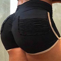 Argentina Sexy Push Up Mujeres Sporting Yoga Pantalones Cortos 2019 Verano de Cintura Alta Patchwork Bolsillo Elástico Fitness Shorts Mujer cheap running pocket Suministro