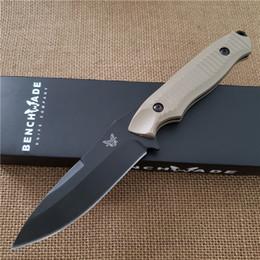 Cuchillo de bolsillo online-Cuchillo de mariposa BM 140-BKSN Hoja lisa Hoja fija Cuchillo de supervivencia para acampar al aire libre Cuchillo de supervivencia EDC Cuchillos Mejores cuchillos