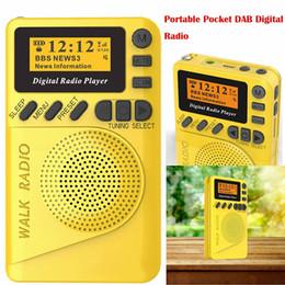 dvd recargable Rebajas Portátil de bolsillo de radio digital DAB con MP3 Función de DVD incorporado en la batería recargable de ofertas Senderismo JR