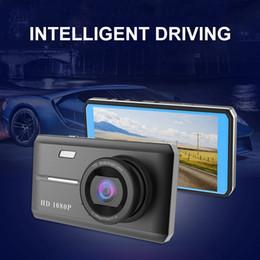 2019 câmera traseira conduzida 4.5 Polegada dvr carro Tela Sensível Ao Toque HD Visão Noturna Gravador de Condução 1080 P Frente E Traseira Gravação Dupla Gravador de Condução Carro Condução DVR câmera traseira conduzida barato