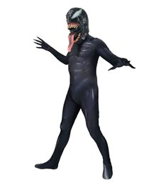 Argentina 2018 Venom Spider Movie Version Cosplay Traje de Superhéroe Spandex Zentai Spiderman Body Fiesta de Halloween Cosplay traje entrega gratis Suministro
