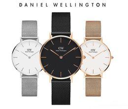 2019 pulseira de relógio daniel wellington Curva 3D Novo Daniel Wellington relógios homens luxo DW relógios 40mm mens mulheres 32mm relógio de Quartzo Cinta de aço Fino Relogio Montre Femme pulseira de relógio daniel wellington barato