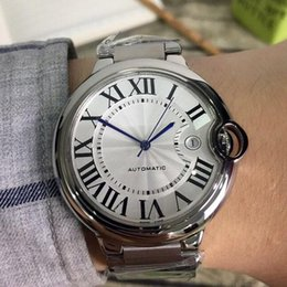 homens relógios marca logo moda Desconto Nova Moda de Alta Qualidade Mens Relógio de Luxo Relógio de Pulso de Aço Inoxidável 42mm de Aço Inoxidável Mecânico Automático de Exibição de Marca Logotipo Da Marca de Relógio