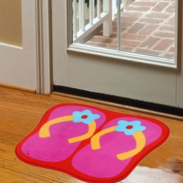 hand eingehakt teppiche Rabatt Persönlichkeit Hand Haken Hausschuhe geformte Matte Wohnzimmertür Matten, neue bestickte Veranda Fußmatte Boden Karpet Schlafzimmer Teppiche Geschenk