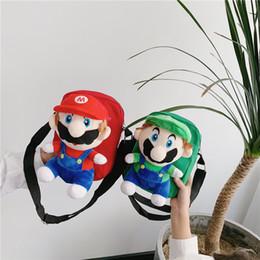 Sac à dos en Ligne-Super Mario bros sac Plush Épaule Sacs Sacs À Main de bande dessinée Doux Fourre-Tout Poche Téléphone Sacs Coins Purse LJJK1838