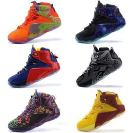 2019 lbj elite Haute Qualité Athlétique LeBron 12 XII Elite Enfants Chaussures De Basket-ball Hommes Ce Que Le Noir Blanc Métallisé Or Multi LBJ Sneaker