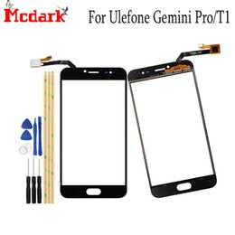 gemini pro Promo Codes - For Ulefone T1 5.5 inch Front Glass Touch screen Mobile Phone For Ulefone Gemini Pro Touch Digitizer Panel TP+Tape Replacement