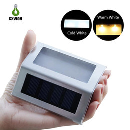 Sensor de luz solar portátil online-Luz de pared con sensor solar portátil de 3 leds Funcionamiento automático luces de cubierta solar Bueno para escalera de jardín