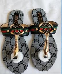 cabelos gordurosos Desconto 2020 Marca Mulheres Sandálias tamanho grande Sapatos de Grife de Luxo chinelos sandálias Moda Verão Largo Plano Escorregadio Com Sandálias Chinelo chinelos