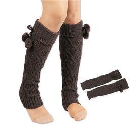 b790b546ccf Knitting Knee High Socks Fashion Women Winter Long Warm Leg Warmers Long Leg  Warmers Boot Toppe Cuff Crochet Socks 6 Colors