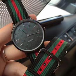 Relojes para mujer online-2019 Nueva Llegada de Oro Rosa Reloj de Cuarzo Para Hombre Para Mujer NATO Nylon Moda de Lujo Casual Relojes Niñas Deportes Hombre Reloj Orologio Reloj femenino