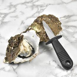 2019 cuchillo de ostras Mango Cuchillo Oyster Afilado Shucker Open Shell Tool Ostras Vieiras Cuchillo Oyster Mariscos Utilidad multifunción Utensilios de cocina DH0465 cuchillo de ostras baratos