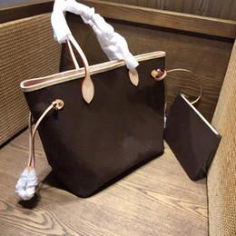 Vintage klassische Damen Handtaschen 2 Stück Set Einkaufstasche Mode High-End Umhängetasche Leder Clutch Bag Wallet Damen Favorit von Fabrikanten