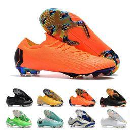 Zapatos cr7 superfly talla 39 online-CR7 Mercurial Superfly zapatos de fútbol para hombres botines zapatos de fútbol de cuero superior Ronaldo Mercurial Neymar Superfly zapatos tamaño 39-46