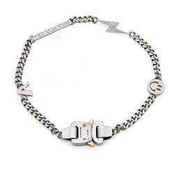 Canada 19ss ALYX collier Bracelet En Métal Chaîne Hommes Femmes Hip Hop Lightning En Plein Air ALYX Street Accessoires Sourire Collier Offre