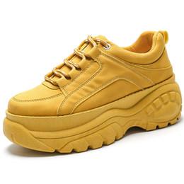 zapatos de primavera causales Rebajas basket femme plataforma zapatillas mujer 4.5CM 2019 Spring Fashion Platoform Sneakers Causal shoes mujer zapatos