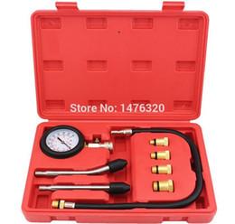 Conjunto de herramientas de diagnóstico de coche online-Auto Car Gasolina Motor de gasolina Cilindro Presión de compresión Fugas Diagnóstico Probador Reparación Juego de herramientas de garaje M8 / 10/12/14 AT2057